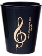 Black & Gold G-Clef Shot Glass