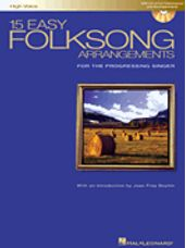 15 Easy Folksong Arrangements - High Voice - Book & Audio Access
