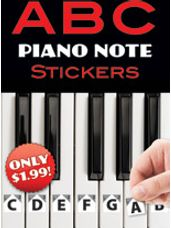 ABC Piano Note Stickers