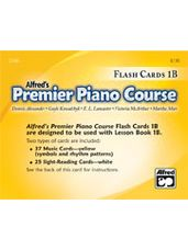 Alfred's Premier Piano Course Flashcards 1B