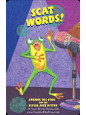 Freddie The Frog and the Flying Jazz Kitten Scatword Flashcard Set
