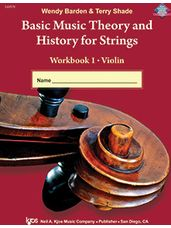 Basic Music Theory and History for Strings (Violin Workbook)