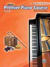 Alfred's Premier Piano Course: Jazz, Rags & Blues Book 4